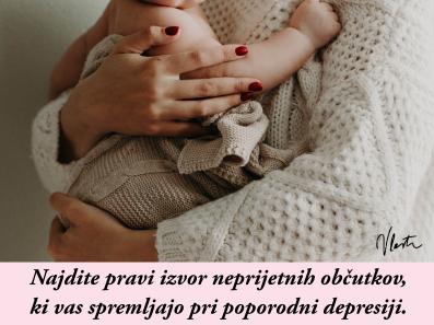 poporodna depresija neprijetni občutki