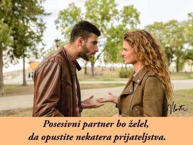 ljubosumni in posesivni partner prijateljstvo