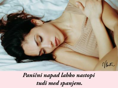 panična motnja med spanjem